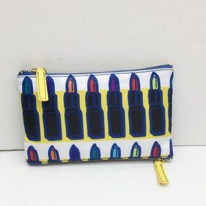 Sonia Kashuk 2 Zip Makeup Cosmet Bag Lipstick Prnt